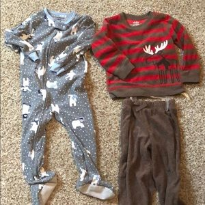 Kids sleeper (2t) and fleece outfit (24 months)